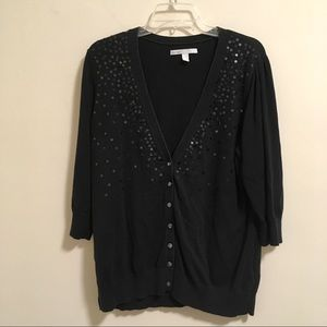 Old Navy Sequined 3/4 sleeve Cardigan XXL